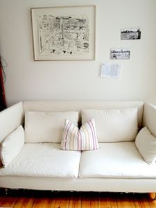 Bedroom reading sofa