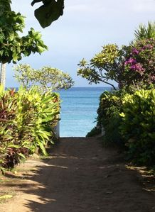 You are  only steps away from Napili Bay Beach