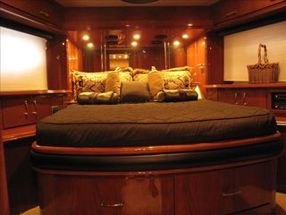 Aventura yacht photo - Guest room in front with TV, with radio surround system and phone