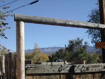 Santa Fe house rental - View of Mountains from Patio_Courtyard