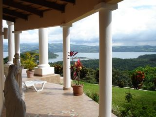 Nuevo Arenal estate photo - Villa #1...'Casa Grande' View from the Veranda