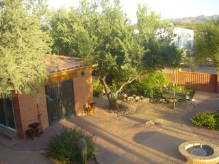 Tucson studio photo - Balcony overlooking Patio with Hot Tub Gazebo
