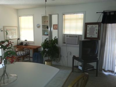 Fully furnished with cable TV, wireless internet and a small office area