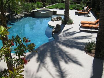 Resort Style Private Pool with Spa