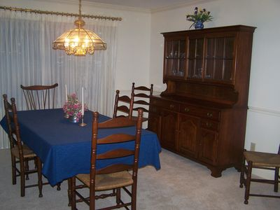 Formal dining room seats at least eight