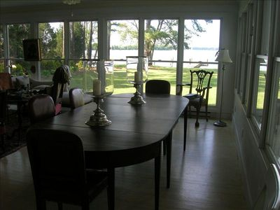 View from the dining area of the River Room