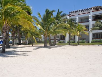 view of the property from the beach