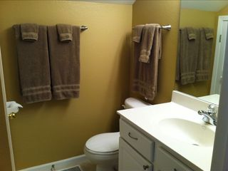 Camdenton condo photo - Bathroom with shower off fourth guest bedroom on upstairs level