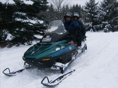 Snowmobiing on the Benzie/Manistee trail system.