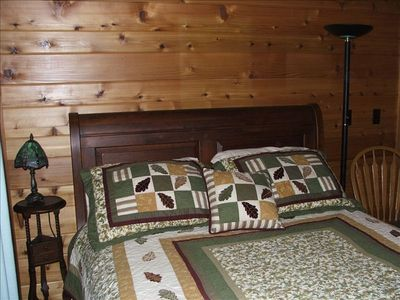 Second bedroom queen size sleigh bed