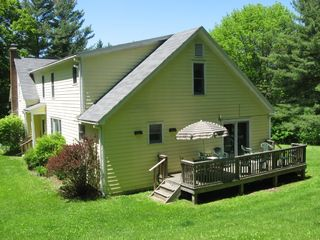 Canaan farmhouse photo - With a deck and a large yard