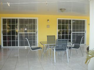 Aruba villa photo - Brand new sliding glass doors come outside to the shaded patio! have your coffee