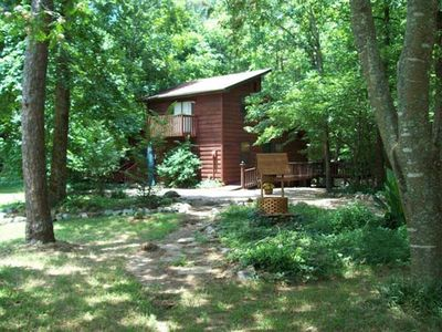 Lake Ouachita cabin rental - Secluded Private Cabin next to the Creek.