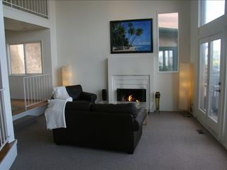 Ocean Beach house photo - Enjoy a fire in the winter or a cool seabreeze.