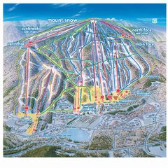 Mount Snow condo photo - Overall Mount Snow Trail Map
