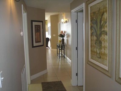 Inviting entry way.