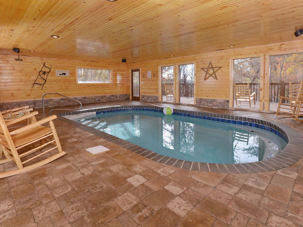 Indoor private swimming pool new cabin all vrbo Cottages with swimming pools to rent