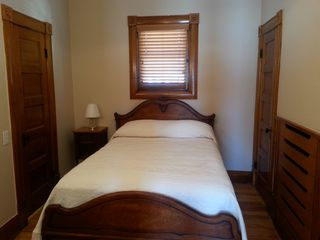 Colorado Springs house photo - Nostalgic Bedroom #1 - full-size antique bed, built-in dresser, closet and bath