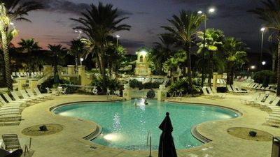 Regal Palms townhome rental - Pool at night
