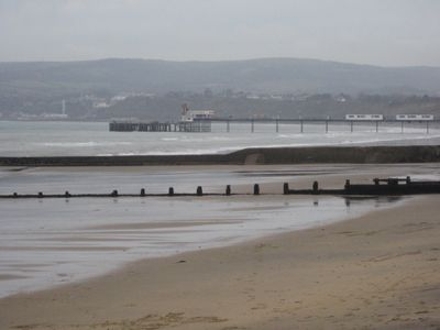 Sandown beach towards Shanklin