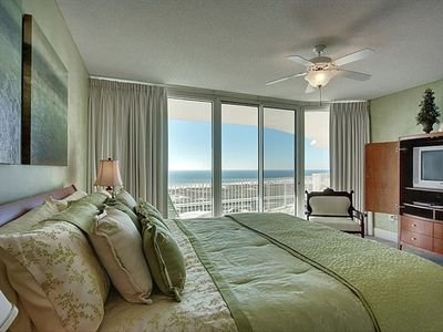 Master bedroom overlooking the Gulf and the beach.