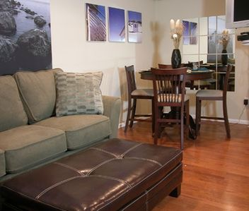 Mission Beach condo rental - Our spacious living area