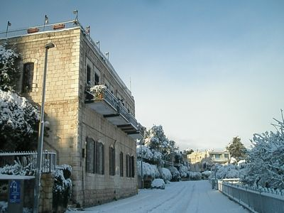 Once in a lifetime snow in Jerusalem