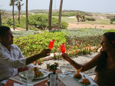 Enjoy a nice meal at the Tierra Del Sol Club House Restaurant w amazing view.