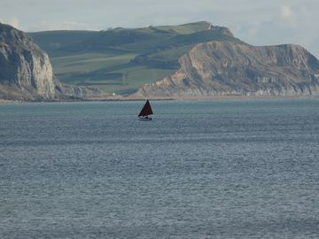Sailing boat Lyme Bay