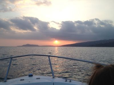 Ask about a charted fishing trip or sunset cruise