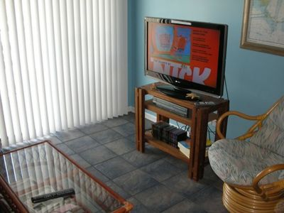 Flat Screen TV/DVD in Family Room & DVD/VCR and cable in both bedrooms