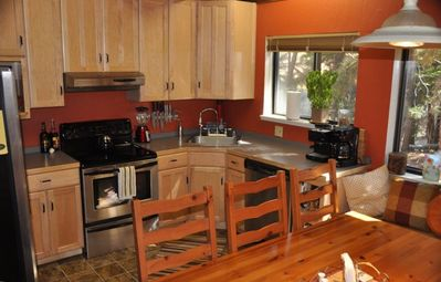 Another view of your fully stocked kitchen, including your first nights dinner!