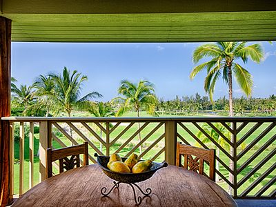 Relax, Dine, or Have Happy Hour on Your Private Lanai