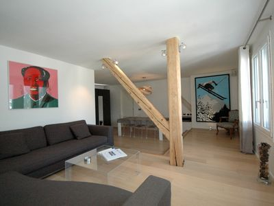 Chamonix apartment rental - Majestic living area