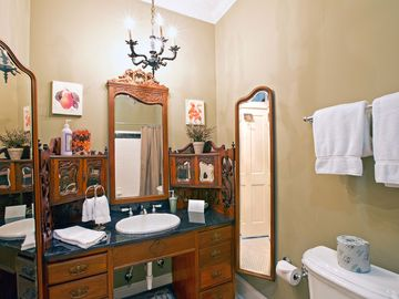 A second full bathroom in 2BD/2BA home