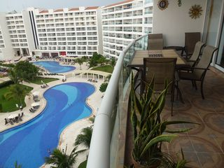 Nuevo Vallarta condo photo - Recently Tiled large Balcony with views of the pools.