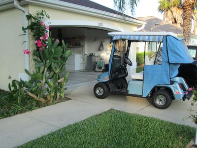 Our Golf Cart.