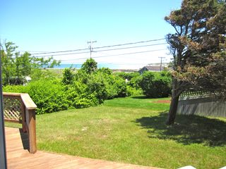 East Dennis house photo - Another view of side yard with view of ocean