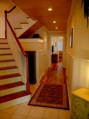 Kiawah Island villa photo - The west unit features wainscoting, bead board ceilings and Brazilian cherry.