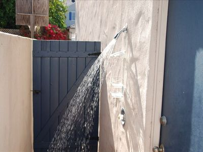 Outdoor shower is amazing!