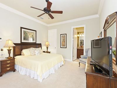Read, watch TV, and relax on our queen-sized bed