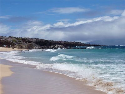 Kapalua condo rental - Oneloa Beach is 3 minute walk below Bay Villas