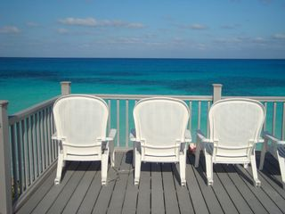 Great Exuma house photo - Oceanfront 16 x 16 composite deck, perched on a bluff 20' above the water