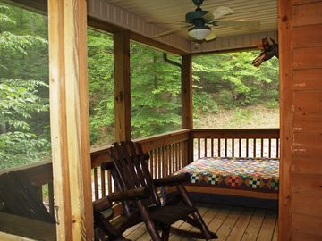 A screened sleeping porch is sure to please all!