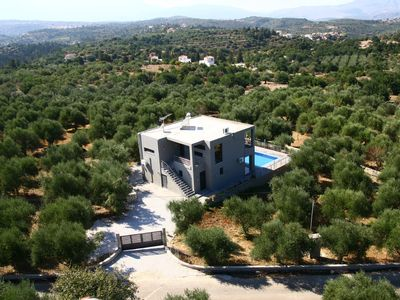 Villa Kallisto surrounded by olive groves