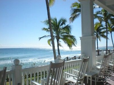 Beautiful veranda. Perfect place to read, relax and enjoy the ocean.