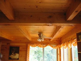 Newfound Lake house photo - Beamed ceiling