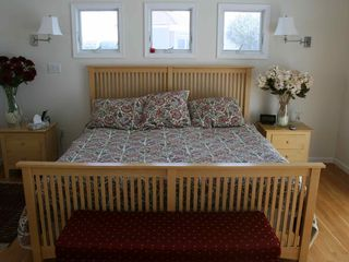 Master bedroom, king-sized bed, patio to right of photo - Holgate house vacation rental photo