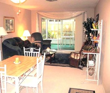 Bradenton condo rental - Dining Room thru Living room thru Lanai