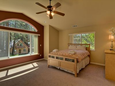 Master bedroom (second floor) with queen bed